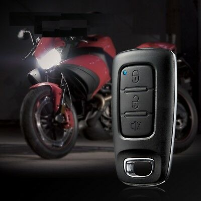 Motorcycle Auto Alarm 1 Way Security System Remote Control Engine Immoblized