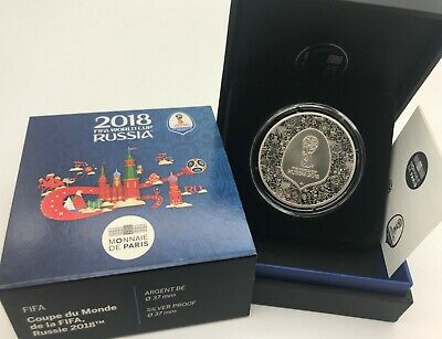 France 2018 10 euros FIFA World Cup Russia Argent Proof Silver Monnaie de Paris