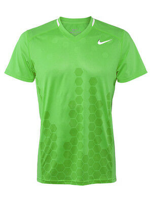 Nike Men's Pro Player Dri-Fit Showdown Movement Swoosh Tennis Crew Shirt Green