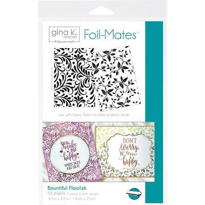 Gina K Designs Foil-Mates Background - Bountiful Flourish 10 Pk
