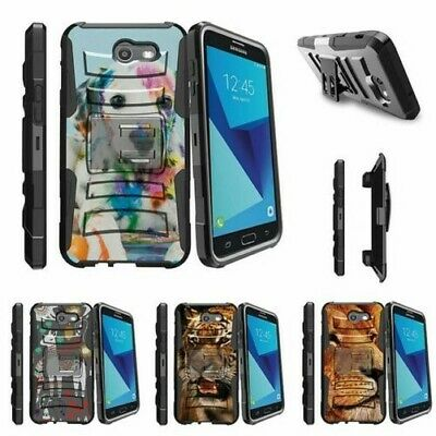 For Samsung Galaxy On7 J7 Prime J7 Halo (2017) Clip Case Colorful Puppy