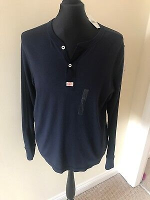 Mens Ralph Lauren Casual Long Sleeve Button Crew Neck New With Tags Size Large