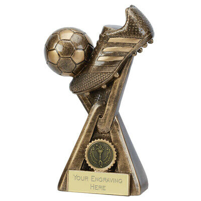 Football Link Football Boot And Ball Trophy 3 Sizes Award Free Engraving A4046A