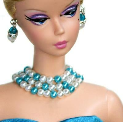 """Handmade  doll jewelry necklace earrings fits 11.5/"""" doll 786A"""