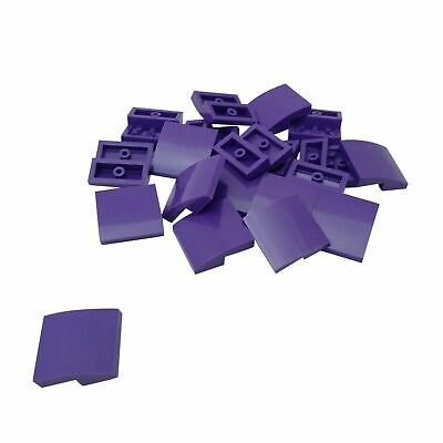 20 NEW LEGO Slope Curved 2 x 1 No Studs Dark Purple