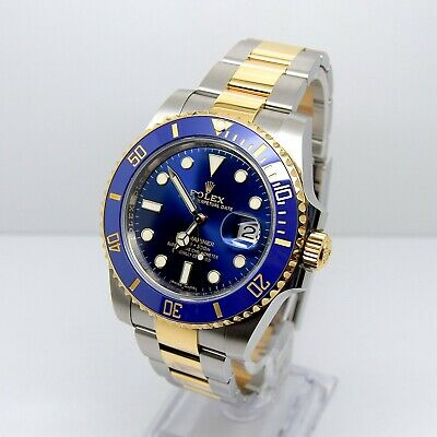 Rolex Submariner 116613LB Box and Papers Nov 2018 Ceramic Gold and steel