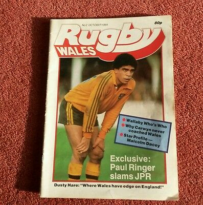 RUGBY WALES No2 Oct 1984 Mag Paul Ringer JPR Williams Malcolm Dacey Dusty Hare