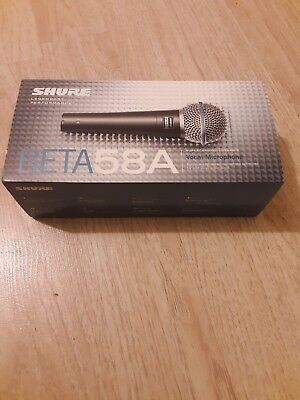 New Shure Beta 58A Vocal Microphone with New 20 ft XLR Microphone Cable