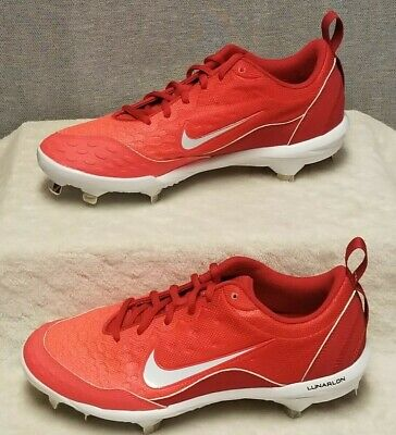 NIKE Lunar Hyperdiamond 2 Pro Softball Cleats Size 8.5 University Red 856492-616