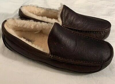 3232692bf29 UGG ASCOT 5379 Men'S Slippers China Tea Leather New* Sz 8 100% Authentic