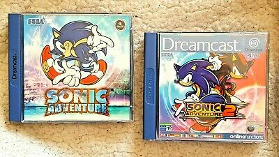 Lote Juegos Dreamcast Games: Sonic Adventure 1 & 2! Completos, Pal, Buen Estado!