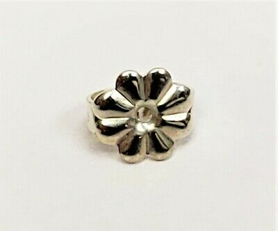 Tiffany&Co. Sterling Silver Flower Push Back Replacement Single Earring