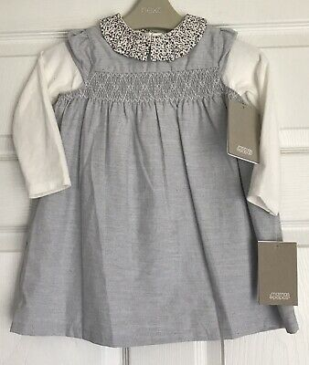 Mamas & Papas Stunning Smocked Dress & Collared L/S Top BNWT 18-24mths