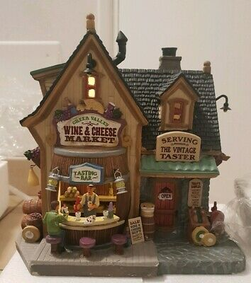 Porcelain Lighted Building LEMAX Green Valley Wine & Cheese Market 45679