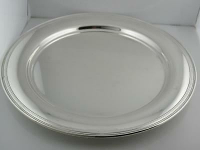 "Sterling TIFFANY & CO 11"" Plate / Charger / Tray no.5765 Plain no mono Mint Cond"