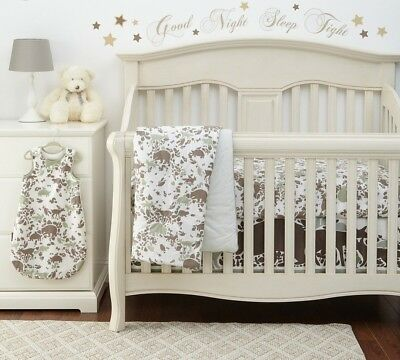 Dwell Studio Woodland Tumble Crib Skirt and sleep sack