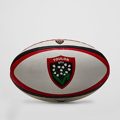 Gilbert Mens Toulon Official Replica Rugby Ball White