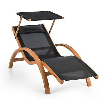 [B-Stock] Garden Lounger Patio Chair Home Furniture Canopy UV proof  Pine wood B