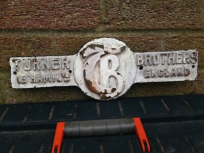 cast iron name plate ( Tunner Brothers)