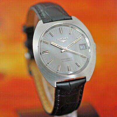 Original Longines Conquest Swiss Automatic 36000 Bph Date Factory Gray Dial