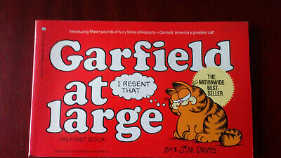 Garfield At Large Very First Garfield Book First Edition Paperback by Jim Davis