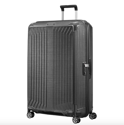 "SAMSONITE - Lite-Box 30"" Spinner Hard Suitcase Luggage Eclipse Grey- NEW"