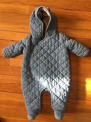 dd43d7affe54 BABY GAP BOY Girl Chambray Quilted Bunting - 3-6 Months Denim Winter ...
