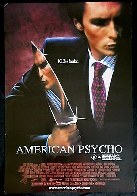 MOVIE POSTER ONE SHEET - AMERICAN PSYCHO - Christian Bale, Justin Theroux