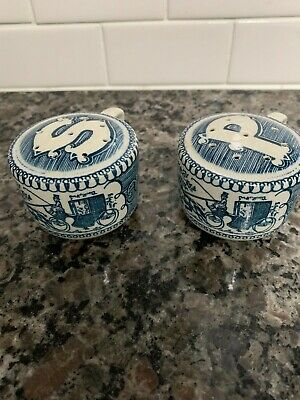 Vintage Currier and Ives Royal China Salt and Pepper Shakers Set