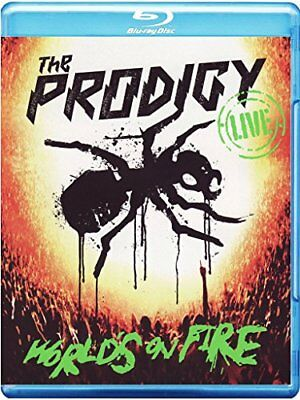 The Prodigy Live - World's On Fire CD + Blu-Ray Keith Flint, Liam Howlett, Maxim