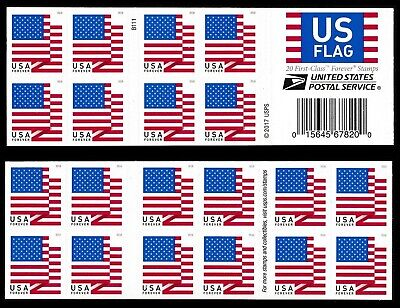 2018 US STAMP - US FLAG - FOREVER BOOKLET OF 20  (BCA) - Scott# 5263/5263a