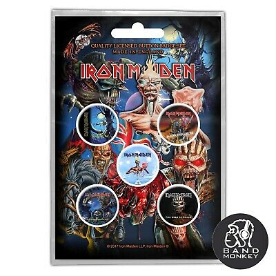Iron Maiden Button Badge Pack Later Albums