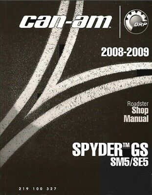 2008-2009 Can-Am Spyder GS ( SM5 / SE5 ) / Roadster Service Manual on a CD