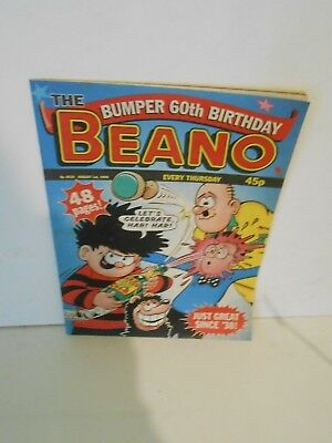 Beano 60th Birthday Comic No 2924  Aug 1st 1998  Nr Mint