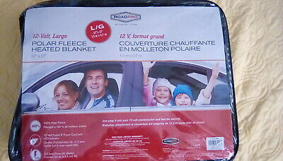 Polar Fleece Electric Blanket 12 Volt Plugs Into Car Cigarette Lighter 57x27