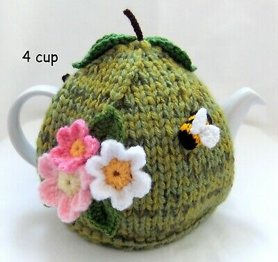 Hand Knitted Green Russet Apple Tea Cosy - 4 cup