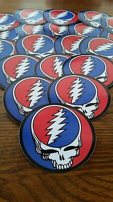 Lot Of 10 Grateful Dead Stickers. Steal Your Face. 3 inch