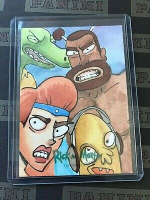 2018 Cryptozoic FABIAN QUINTERO Rick & Morty Sketch Card 1/1