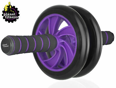Planet Fitness Dual Ab Wheel Roller w/ Comfort Grip Handles - Abs Core Workout