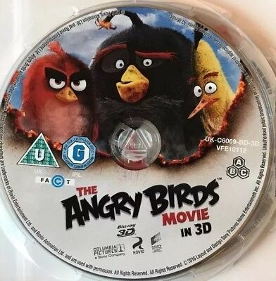 The Angry Birds Movie [3D Blu-ray 2016] New Region Free 3D Disc Only