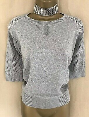 Exquisite Karen Millen Jumper Size 2 UK Size 10-12 Grey Relaxed