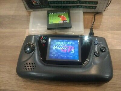 Excellent Sega Game Gear Fully Working/Refurbished 2 Games and Original Box.