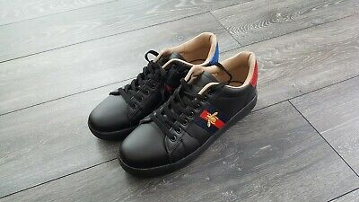 c55af26e0aa GUCCI ACE STYLE Embroidered Bee Trainers UK SIZE 9 ...mens.. worn ...