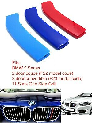 M Power Sport Logo Kidney Grill 3 Colour Cover Abs 3 Strips Bmw 2
