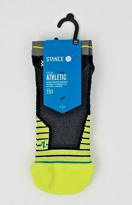 STANCE Athletic Fusion Mens Socks Fit 257 Hardwired Small (3-5.5) Lime NEW H5