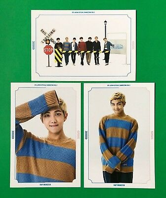 BTS RAP MONSTER + Group Japan Fanmeeting Vol 3 Official Photocard Photo Set  RM