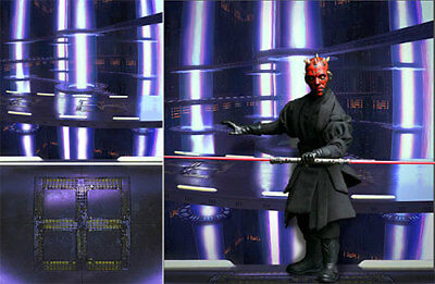 Poster Backdrop~Star Wars~Duel Fates For 1/6 Hot Toys Figures Darth Maul Dx16 17