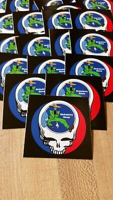 20 Grateful Dead Steal Your Face Shakedown Stickers. 2 Inch.
