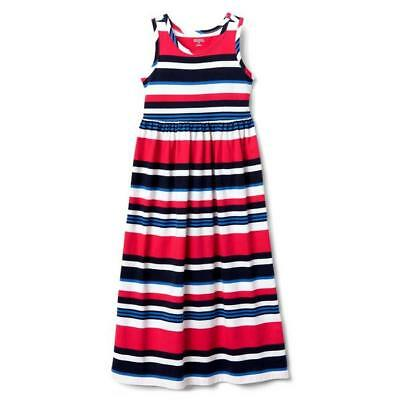 NWT Gymboree July 4th Striped Maxi Dress girls 4,5/6,7/8,14 Red White Blue