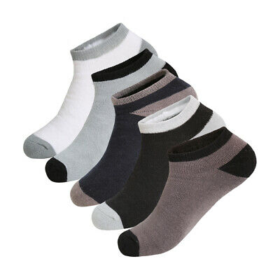 5 Pack Color Block Breathable No Show Boat Socks